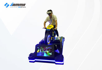 Dynamic Platform VR Racing Simulator 4 Player رنگ سیاه و زرد